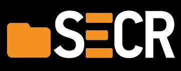 secr logo - black background